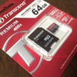 Transcend microSDXCカード 64GB